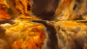 Синергии абстрактного ландшафта Стоковая Фотография RF