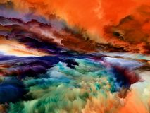 Синергии абстрактного ландшафта бесплатная иллюстрация