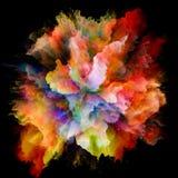 Синергии красочного взрыва выплеска краски стоковое фото