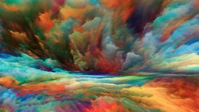 Синергии разделения горизонта иллюстрация штока