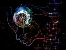 Синергии сознавания машины Стоковое Изображение RF