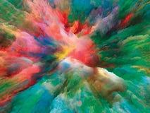 Синергии сюрреалистической краски Стоковая Фотография