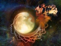 Синергии луны Стоковые Изображения RF