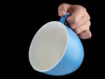 Сине- морская чашка цвета - mug на черной предпосылке Стоковое Изображение RF