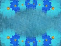 Сине- цветки бирюзы, на предпосылке сине-бирюзы яркий состав флористический Стоковое Изображение