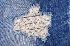 Синие женские джинсы - структура ткани стоковые изображения