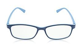 Синие стекла изолированные на белизне стоковые изображения