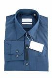 Синий воротничок и длинная рубашка рукавов Стоковое Изображение RF