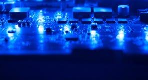 Синий компьютер технологии электронный Стоковые Изображения