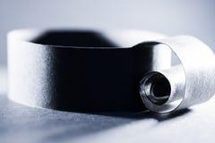 Синий конспект, изображение предпосылки бумажной спирали Стоковое фото RF