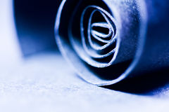 Синий конспект, изображение предпосылки бумажной спирали Стоковое Изображение