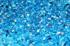 Синий праздник предпосылки звезд и sparkles яркого блеска, рождество, валентинки, любит абстрактную текстуру Стоковые Фото