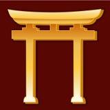 синтоистский символ Стоковая Фотография