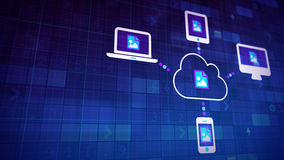 Синхронизация облака Стоковое Изображение RF