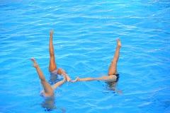 Синхронизированное заплывание Стоковые Фотографии RF