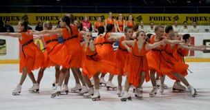 синхронизированный кататься на коньках 2010 чемпионатов финский Стоковые Изображения
