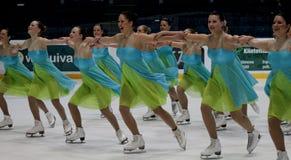 синхронизированный кататься на коньках 2010 чемпионатов финский Стоковая Фотография RF