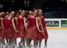 синхронизированный кататься на коньках 2010 чемпионатов финский Стоковое фото RF