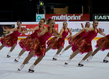синхронизированный кататься на коньках 2010 чемпионатов финский Стоковые Изображения RF