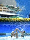 Синхронное плавание в Олимпийских Игр Стоковое Изображение RF