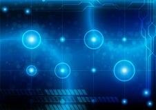 Синь абстрактной технологии с накалять и светлая предпосылкой Ve Стоковые Фотографии RF