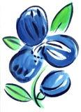 Синь акварели цветет картина впечатления Стоковые Изображения RF