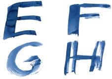 синь алфавита Стоковые Изображения RF
