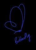 Синь бабочки бесплатная иллюстрация