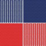 Синь безшовных предпосылок красная белая на День независимости Стоковая Фотография