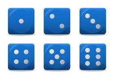 Синь вектора dices Стоковые Изображения