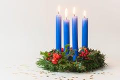 Синь венка рождества стоковые изображения rf