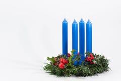 Синь венка рождества стоковое изображение