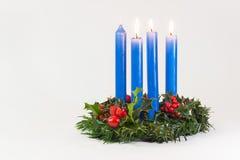 Синь венка рождества стоковое изображение rf