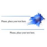 Синь визитной карточки Стоковые Изображения RF