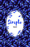 Синь выходит поздравительная открытка рамки Бесплатная Иллюстрация