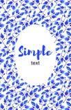 Синь выходит поздравительная открытка рамки Иллюстрация штока