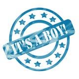Синь выдержала она круги и звезды штемпеля мальчика иллюстрация вектора
