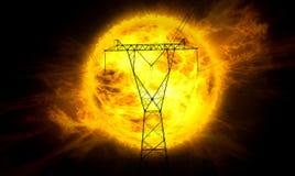 синь заволакивает небо панелей принципиальной схемы отраженное силой солнечное Стоковые Изображения