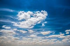 синь заволакивает небо Стоковые Изображения RF