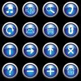 синь застегивает символы белой Стоковая Фотография RF