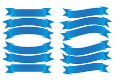 Синь знамени ленты Стоковые Изображения