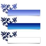 синь знамени Стоковые Фотографии RF