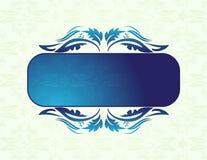 синь знамени иллюстрация вектора