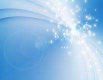 Синь изгибает предпосылку Стоковые Изображения RF