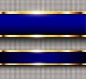 Синь и золото предпосылки дела Стоковая Фотография