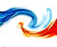 Синь и красная волна Стоковое Фото