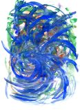 Синь и покрашенная зеленым цветом текстура Стоковые Фотографии RF