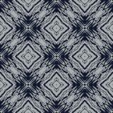 Синь и серый цвет военно-морского флота выравнивают геометрическую безшовную картину Стоковая Фотография RF