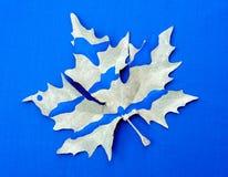 Синь кленового листа Стоковые Изображения RF