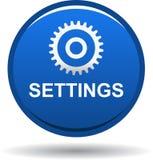 Синь кнопки сети установок стоковые изображения rf